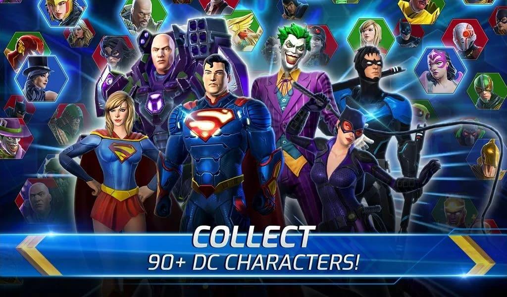 DC Legends screen 2: DC CHARACTERS
